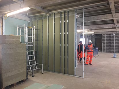 Cladding Partitions Amp Ceilings Adept Contracts